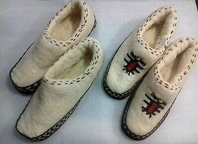 New Albanian Handmade Wool Bootees Slippers Shoes Socks-Papuce-Handcraft-Eagle