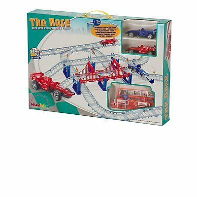 Car Race Track Mukikim 2 Cars 119 Piece Ages 6+ New Toy Build Play Gift Boys Fun