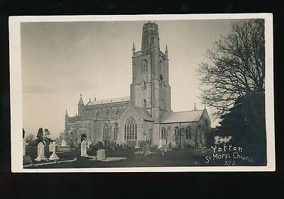 Somerset YATTON St Mary's Church Viner Bromo 1910/30s? RP PPC