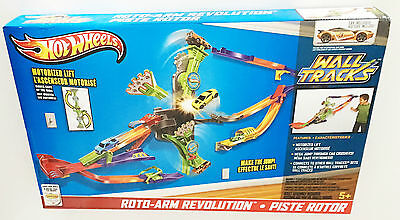 Hot Wheels Roto Arm Revolution Wall Car Race Track 360 Large Big Ages 5+ Toy Fun