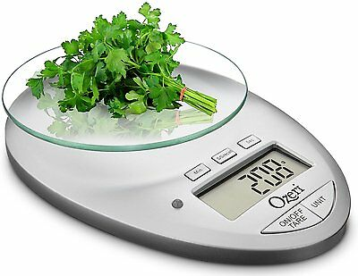 Ozeri Pro II Digital Kitchen Scale Removable Glass Countdown Timer 1 G To 12 LBS