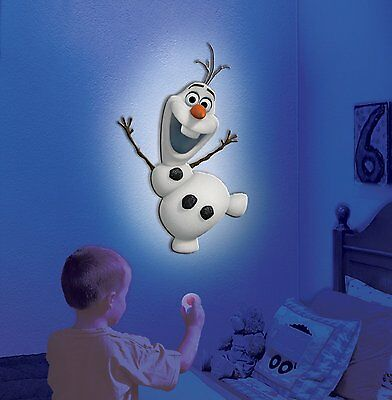 Uncle Milton Disney Frozen Wall Friends Olaf Snowman Room Light Toy Ages 3+ Gift