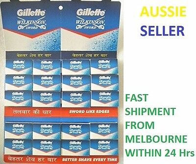 Gillette Wilkinson Sword Stainless Steel Double Edge Safety Razor Shaving Blades