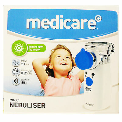 Medicare Ultrasonic Portable Nebuliser with Mesh Technology MD631