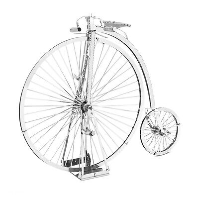 Hochrad Penny Farthing 3D-Metall-Bausatz Silver-Edition Metal Earth 1087