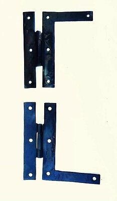 """PAIR 4"""" Antique Hardware Vintage Colonial Metal """"L"""" Butterfly Iron Cabinet Hinge"""