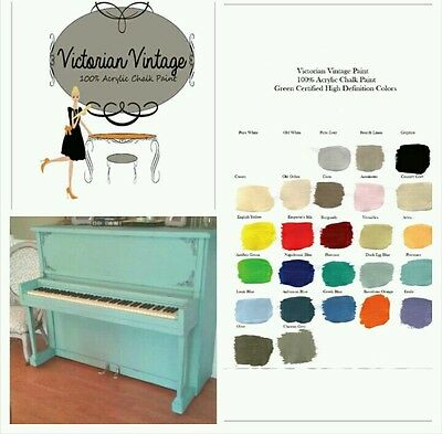 Chalk style Paint by Victorian Vintage- 100% acrylic Chalk style Paint BEAUTIFUL