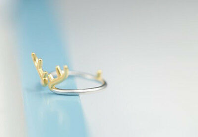 Classic Band Deer 925 Sterling Silver Ring engage proposal love heart gift RG52