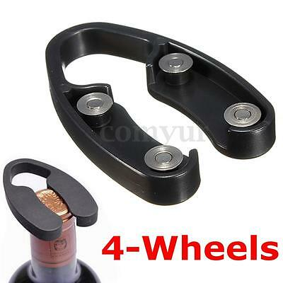 【4-Wheels】Handheld Wine Bottle Foil Cutter Opener Rotating Cutting Blade Black