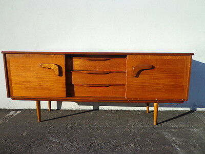 Mid Century Modern Console Danish Style Media Cabinet Buffet Sideboard Credenza