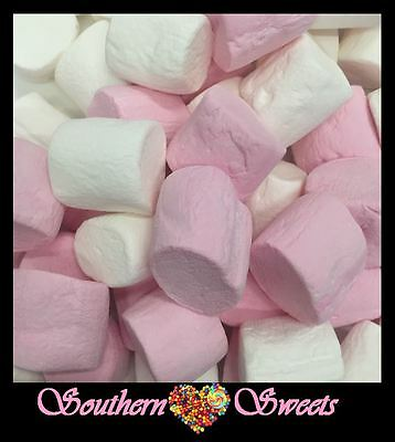 Pink White Large Marshmallows Lollies Approx 90Ct 500G Bag Beacon