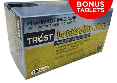 Australian Made** Trust Loratadine 10Mg Same As Claratyne Generic *100* Tablets