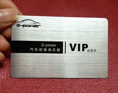 200 Plastic VIP Membership / Thick Business Cards Printing - Brushed Silver/Gold