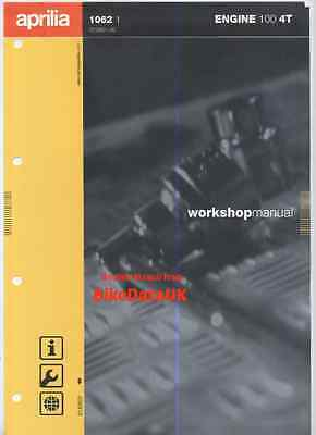 Genuine Aprilia 100 4T Engine (2001-on) Factory Shop Manual Book Scarabeo NOS