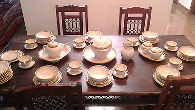 60-piece Authentic Puebla Mexico Uriarte Talavera pottery dinnerware antique
