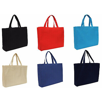 Large Cotton Canvas Tote Bags - 2 Sizes - Reusable - Heavy Wt Fabric - Threadart
