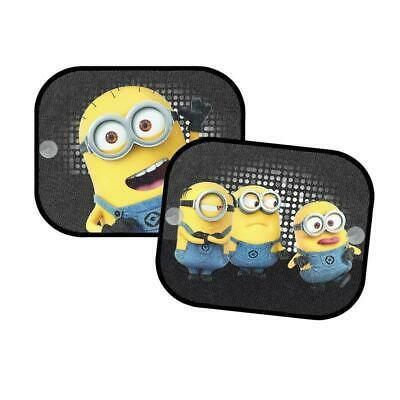 2 x Minions Car Window Sun Shades Visor for Kids Baby Children UV Protection