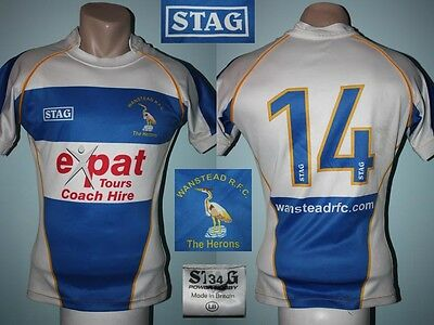 Rugby Union Jersey Maglia Trikot Camiseta Shirt WANSTEAD R.F.C. STAG #14 Home
