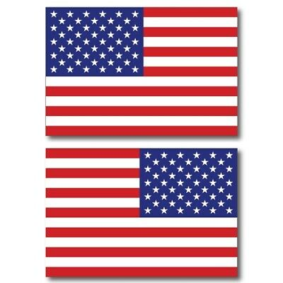 American Flag Magnets 2 Pack 4x6 inch Opposing Flag Decals for Car Truck or SUV