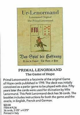 Primal Lenormand the Game of Hope by Alexander Gluck (English) Hardcover Book Fr