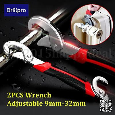 Drillpro 2x Multi-function Adjustable Quick Snap'N Grip Universal Wrench Spanner