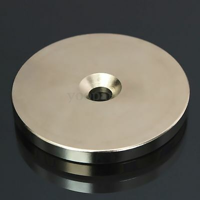 N52 Countersunk Ring Magnets Disc 50mm x 5mm Hole 6mm Rare Earth Neodymium