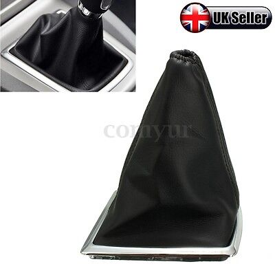 Black PU Leather Gear Gaiter Boot Knob Cover Handbrake For Ford Focus 2005-2010