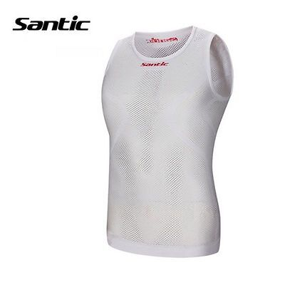 SANTIC Cycling Bicycle Elastic Riding Jersey Underwear Breathable Vest White