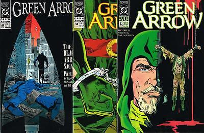 3 issues - Green Arrow - Issue # 33,34,38 **Mature Readers** 1990 - VF - (1483)