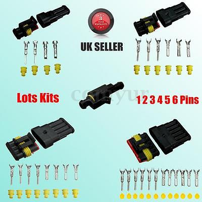 Wholesale Kits Car Boat Electrical Waterproof Connector 1 2 3 4 5 6 Pin Way Seal