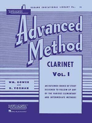 Rubank Advanced Method - Clarinet Vol. 1 (English) Paperback Book Free Shipping!