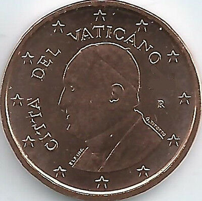 Vatican 1 Cent Currency coin (2014 - 2015), uncirculated/brilliant uncirculated