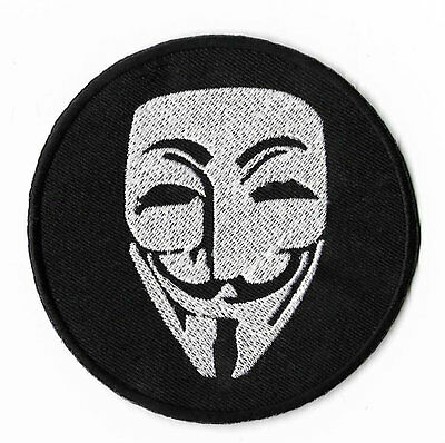 Anonymous Patch V for Vendetta Badge Embroidered Guy Fawkes Mask Hacker Applique