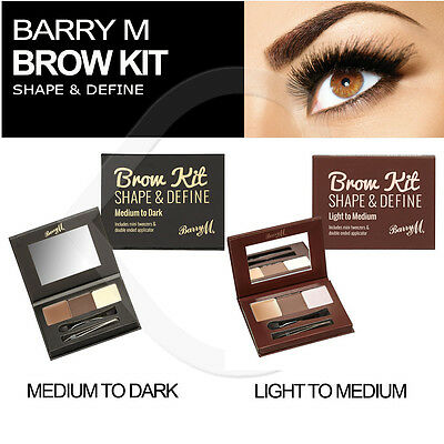 Barry M Brow Kit - Shape & Define Eyebrow Make Up Powder, Brush, Wax & Tweezers