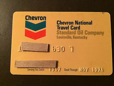 Chevron/Standard Oil Company of Louisville 1976 Vintage Collectors Credit Card