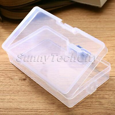 Transparent Clear Plastic Jewelry Beads Storage Art Box Container Organizer Case