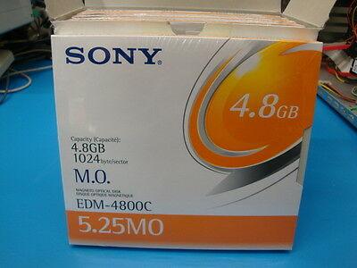 Sony MO Media EDM-4800C 4.8GB RW *NEW* 1 Piece EDM-4800C