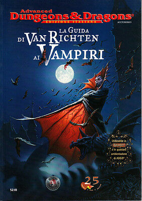 LA GUIDA DI VAN RICHTEN AI VAMPIRI - D&D 25th Edition - GdR RpG ITA NEW TSR 5210