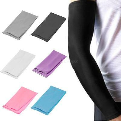 1 Pair Cycling Bike Arm Sleeve Cover Warmers UV Sun Protection Oversleeves TMPG