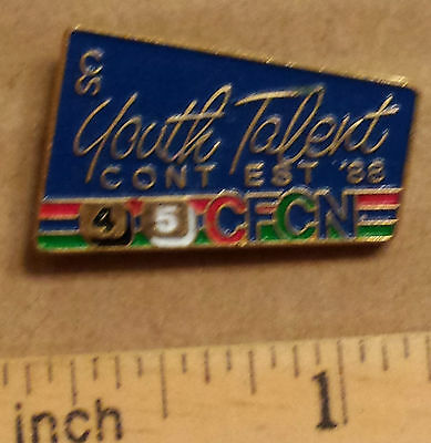 CFCN 4 & 5, Youth Talent CONTEST '88 (Calgary Stampede) - Metal Lapel Pin