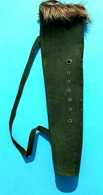 New Traditional Black Leather Back Arrow Quiver Archery Products  Aq144.