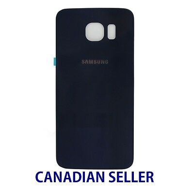 New Back Glass Cover Battery Door Rear Panel for Samsung Galaxy S6 G920P - Blue