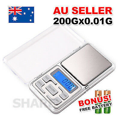 Mini Pocket Digital Scales 0.01 200g Balance Gram Jewellery Precision Weight