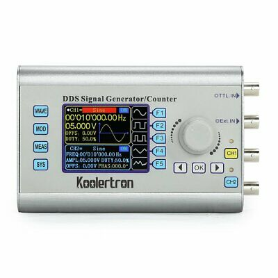 60MHz DDS Dual-Channel Signal Waveform Generator Source Frequency Meter Counter
