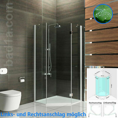 alpenberger duschkabine dusche duschabtrennung f nfeck 90x90x195 eckig duschwand eur 1 00. Black Bedroom Furniture Sets. Home Design Ideas