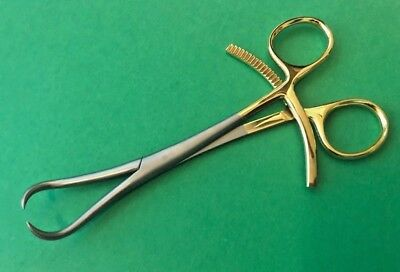 "Bone Reduction Holding Forceps 6.25"" Orthopedic Veterinary Surgical Half Gold"