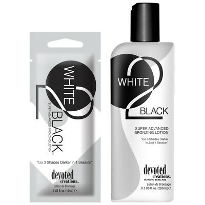 Devoted Creations White 2 Black Super dark bronzing sunbed tanning lotion cream