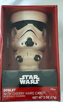 Disney Star Wars Stormtrooper Ceramic Goblet with Cherry Hard Candy 2015 NEW