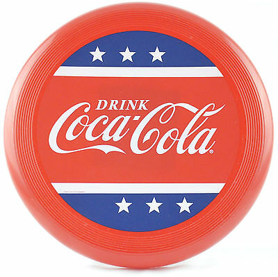 Coca Cola Frisbee Flyer Disk, Patriotic Red White & Blue Design - NEW