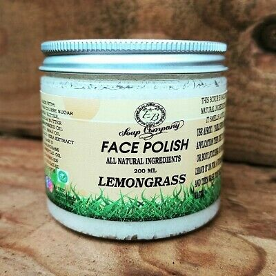 Handmade Lemon Face & Body Scrub 100% Natural Organic Bath Shower Scrub Vegan